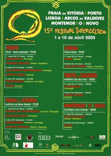 Cartel 15º Festival Intercéltico